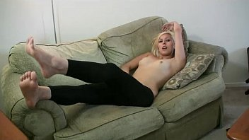 Amateur Lacey shows her feet for Crazy About Feet on our sofa