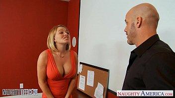 Blonde office babe Krissy Lynn gets nailed