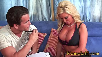 Blonde Milf with Big Tits Jumps on Giant Cock thumbnail