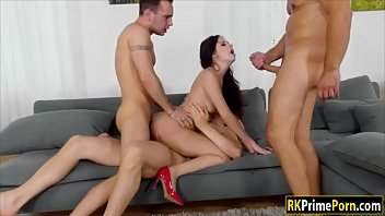 Pervert Men 4some With Rebecca Volpetti