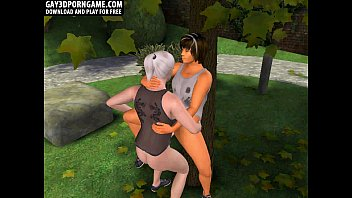 In the 3d park a hot blonde a...