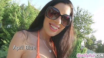 Give Me Pink April Blue Playing With Her Wet Pussy
