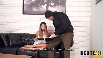 Debt4K. Spectacular Teen Has Something More Valuable Than Money To Return The Debt