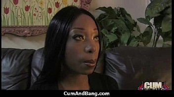 Black Chick Blows Group of White Cocks 11