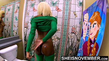 4k I'_m Undressing To Clean A Cumshot Off My Filthy Ass Cheeks &amp_ Wash My Dirty Body In The Shower, Msnovember Cleaning Her Filthy Large Saggy Breasts And Bare Ebony Pussy UHD On Sheisnovember
