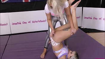 Streaming Video Bra and Panties Match (Strip-Wrestling Match) w, Loser gets strapped in a nappy (diaper)!! ~ Chrissy Morgan vs Zara Lei - XLXX.video