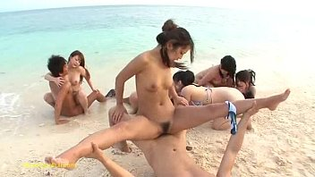 Chinese fucking on the beach