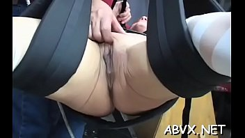 Magnificent darling is playing with a huge marital-device