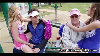 Teen Cheerleaders Dad's Agree To Swap Daughters