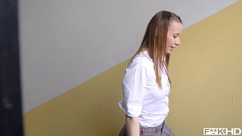Teacher gets to bang his favorite student Olivia Grace's tight teen pussy