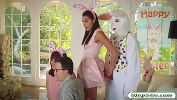Avi Love gets h er hairy muff drilled by horny rilled by horny easter bunny