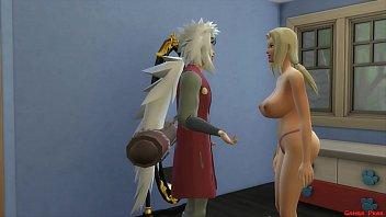 Video sex Los 3 Sannin Tsunade Follada Al Lado de su Novio Jiraiya Naruto Hentai of free