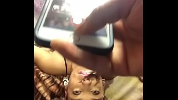 Deepthroat and facefucking exotic ebony teen