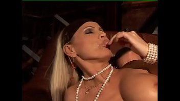 Italian blondie opens her legs for sex