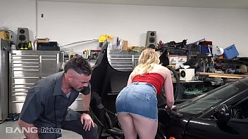 Porn star in service fucked by horny mechanic