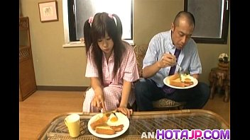 Shino Nakamura  gets cum on fucked shaved crac ked shaved crack from sucked coc