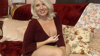 Curvy Rosie Sexy Mom Putting On Lingerie Thigh High Stockings...