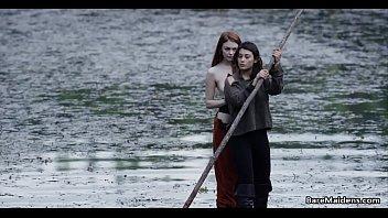 Lesbian adventu res on wooden raft # Brea Dani aft # Brea Daniels and Raven