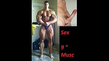 Muscle worship sex with bodybuilder