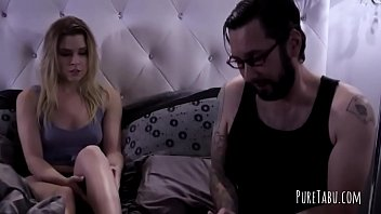 Tattooed fellow gets a bj from a blondie
