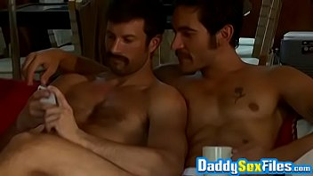 Daddy Dale Cooper Bangs Hung Studs In A Cabin Threesome