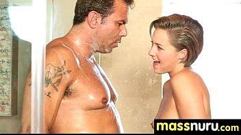 Nuru Massage Ends with a Hot Shower Fuck 17