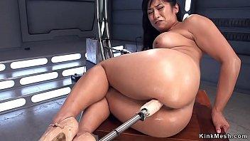 Soft Asian Take s Machine In The Ass e Ass