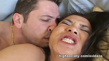 High Society - Charlene Akira tasting an all american cum