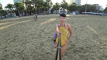 One Piece Mesh  Transparent Swimsuit In Public msuit In Public Beach