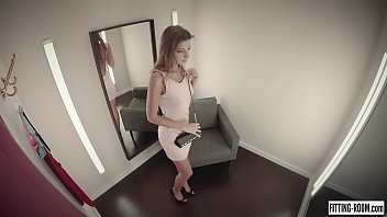Hot Melena Maria Fucks Her Ass With A Dildo Inside A Fitting Room