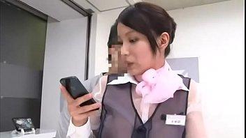 【梅宮彩乃】携帯ショップに行ったら店員の制服が透け透けシースルーだった!たまらず機種説明を受けている間に着衣即ハメしちゃった