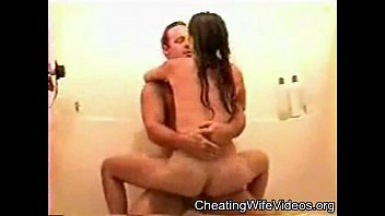 Young Cheating Wife fucking her lover in the shower