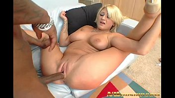 big tits blonde sucking black cock and eating cum