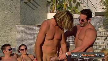 Swinger partners connect each other sexually before meeting the other couples.