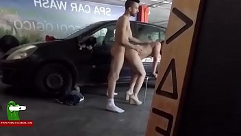 A young couple fucking and enjoying in a parking place ADR0490
