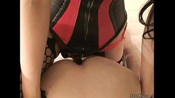 Tattoed slave giant anal dildos