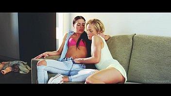 Lesbea Beautiful young blonde toe sucking facesitting lesbians