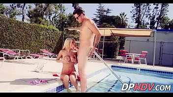 Fucking a perfect 10 blonde at the pool 2 1