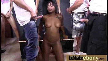 Ebony Gets Fucked In All Holes By A Group Of White Dudes 12