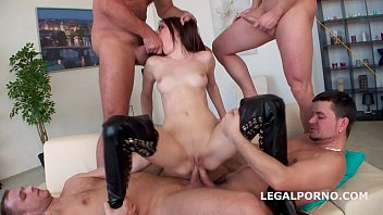 Used & Abused. Timea Bela manhandled by 4 boys with TAP. ATM/DAP/ANAL/SUBMISSION/SQUIRTING - NO