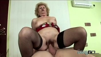 Ultimate big ass GILF takes in a throbbing monster