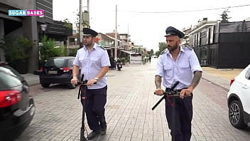 SUGARBABESTV : GREEK POLICE THREESOME PARODY