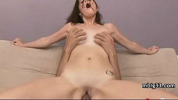 Amateur milf takes a nice bbc in a interracial