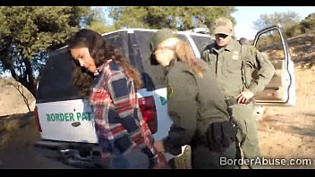 Latina teen fucked by 2 border officers