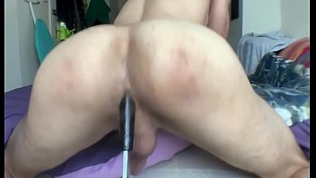Booty twerking rough on black toy...