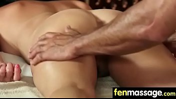 Gorgeous Skinny gets a massage 5