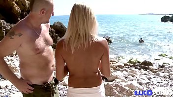 Tamara beautiful young woman unprotected sex with two men at the beach