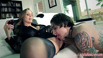 Julia Ann Demands Her Boy Toy to Service Her!