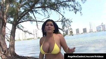 thumb Hot Curvy Cuban Angelina Castro Rides A Lucky Hard Cock