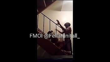 Middle Of The School Day Ebony Teen Take Dick In Staircase